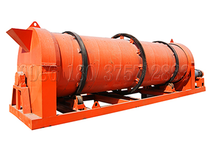 Rotary drum stirring manure granulating machine for organic fertilizer production line