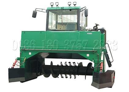 Windrow type compost turner machine for organic fertilizer processing