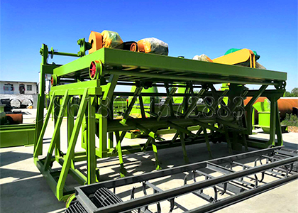Groove type agricultural waste compost turner