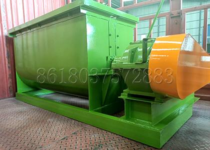 Horizontal type fertilizer mixing machine