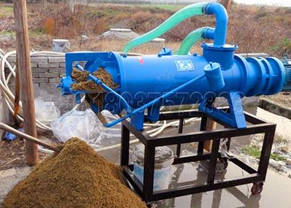 Horse dung screw press dewatering machine