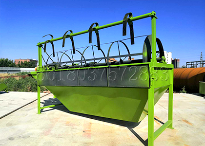 Rotary drum manure fertilizer screening machine