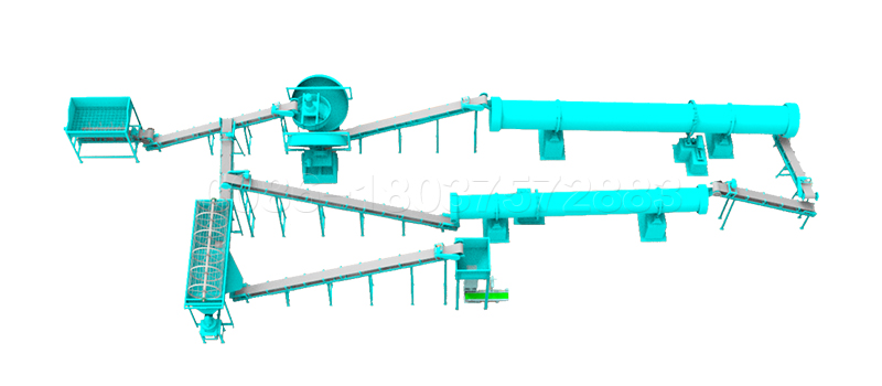 Simple pig waste fertilizer powder manufacturing line
