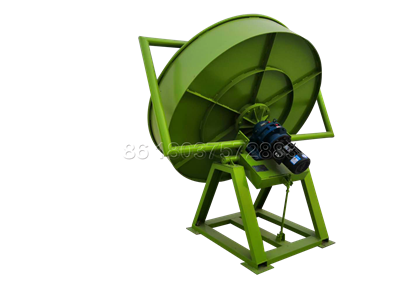 Small disk pelletizer for making organic fertilizer